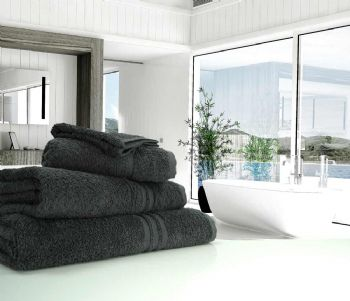 Great Quality Blue Label, 500gsm Hand Towel in Charcoal Grey